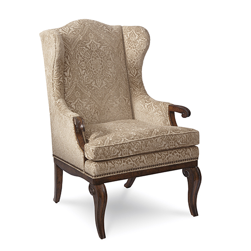 Continental Weathered Nutmeg Wingback Arm Chair
