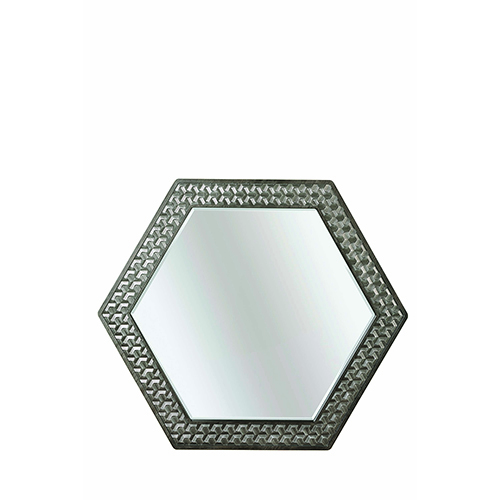 Geode Kona and Facet Citrine Mirror