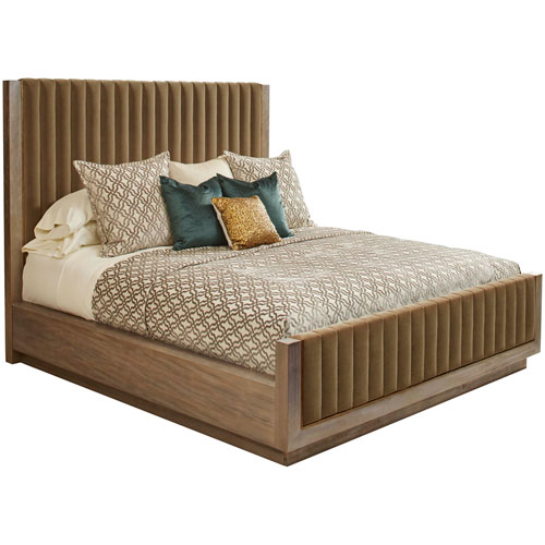 Woodwright Queen Champagne 67-Inch Mulholland Bed