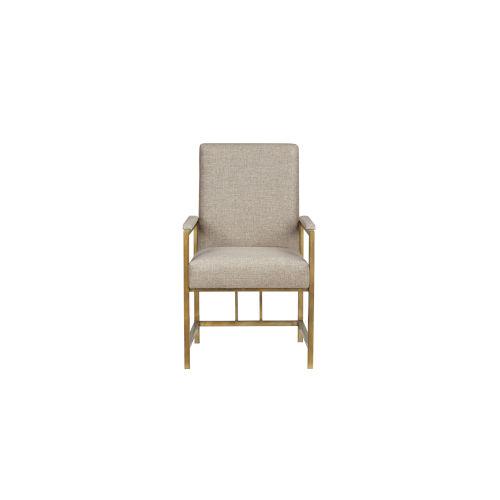 Woodwright Bronze 38-Inch Kahn Arm Chair