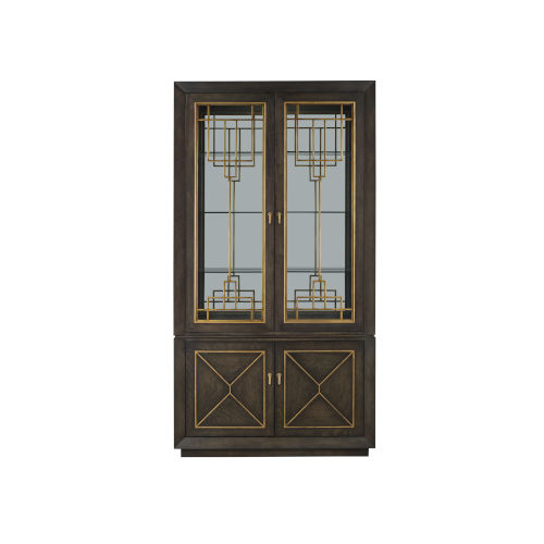 Woodwright Brown 48-Inch Display Cabinet