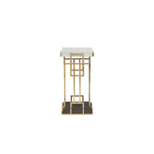 Woodwright Bronze 13-Inch Risom Spot Table