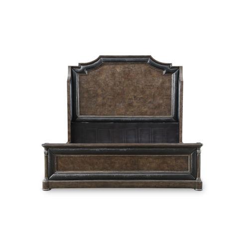 Landmark Mocha 85-Inch King Mansion Bed