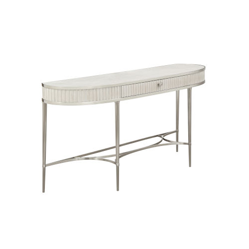 La Scala Ivory and Nickel 64-Inch Console Table