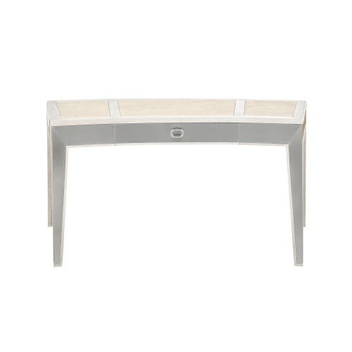 La Scala Ivory and Nickel 36-Inch Writing Desk