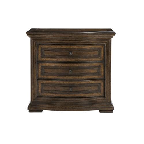 Kingsport Medium Oak 31-Inch Three-Drawer Nightstand