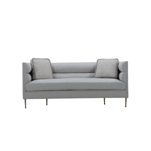 Epicenters 33127 Upholstered Gray 79-Inch DeCarlo Sofa