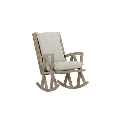 Summer Creek Scrubbed Oak 41-Inch Inland Mist Rocking Chair