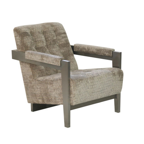 La Scala Nickel 32-Inch Accent Chair