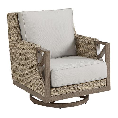 Summer Creek Pampas 36-Inch Outdoor Swivel Rocker Club Chair