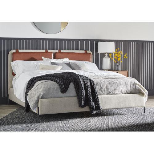 Gray King Kirkeby Upholstered Bed