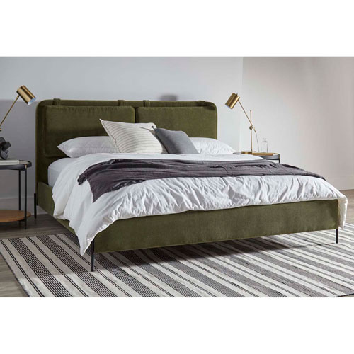 Green California King Kirkeby Upholstered Bed