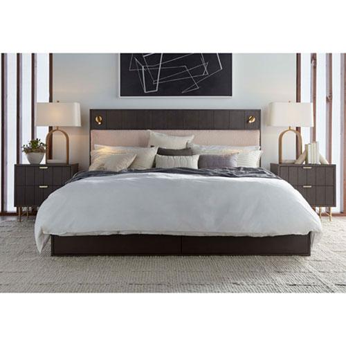 Dark Gray California King Faber Platform Storage Bed
