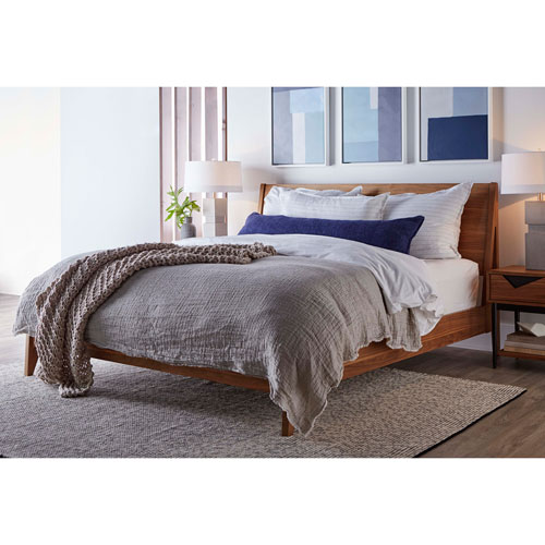 Walnut King Linnet Platform Bed
