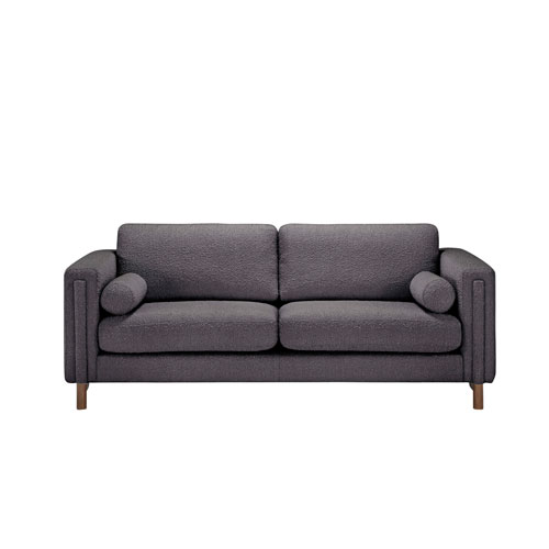 Walnut Truffle Boucle Upholstered Larsen Sofa