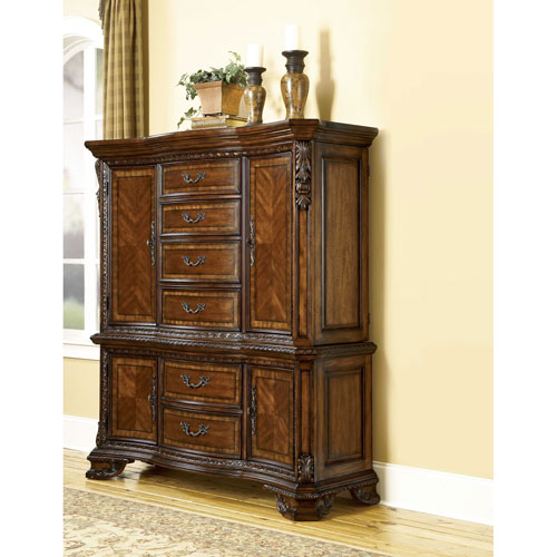 Old World Cathedral Cherry Motif Master Chest Set