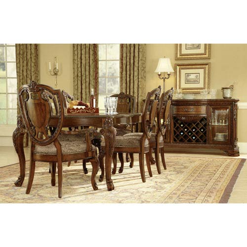 A.R.T. Furniture Old World Cathedral Cherry Motif Leg Dining Table
