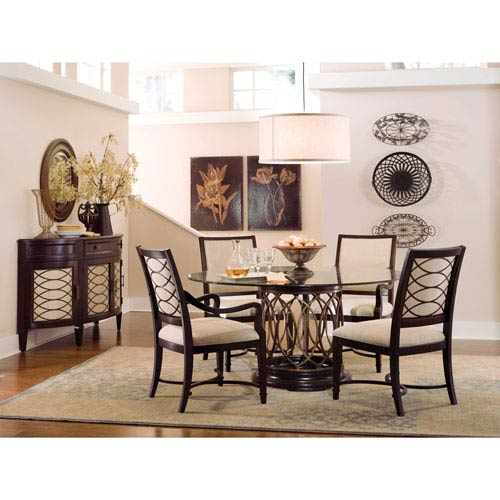 A.R.T. Furniture Intrigue Clear Glass Top Dining Table Set