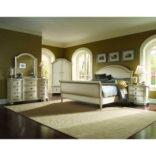 Provenance Linen Upholstery King Sleigh Bed