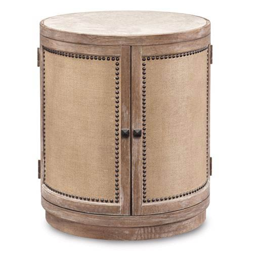 Ventura White Oak Round Lamp Table