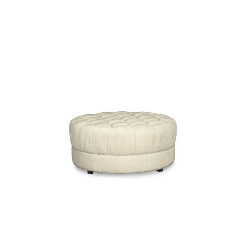 Remarkable A R T Furniture Amanda Ivory Round Cocktail Ottoman Gmtry Best Dining Table And Chair Ideas Images Gmtryco