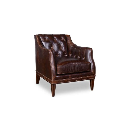 A.R.T. Furniture Kennedy Walnut Matching Leather Chair