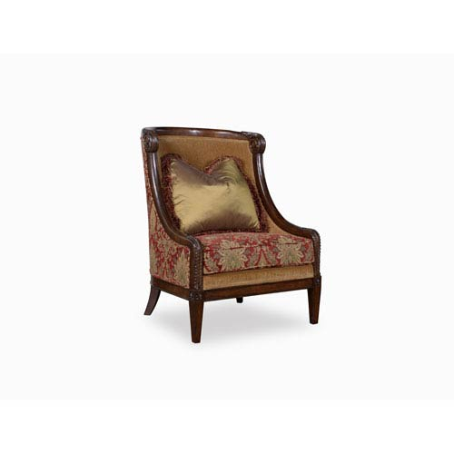 Surprising Giovanna Caramel Carved Wood Accent Chair Ncnpc Chair Design For Home Ncnpcorg