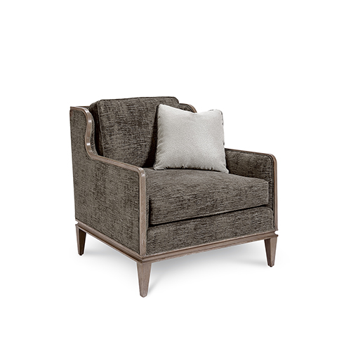 A.R.T. Furniture Cityscapes Fontaine Graphite Scoop Back Chair