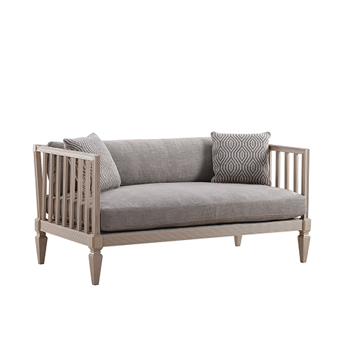 Roseline Upholstered Ana Settee-Light Gray
