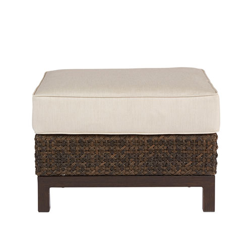 Epicenters Outdoor Brentwood Wicker Uph Stool Ottoman