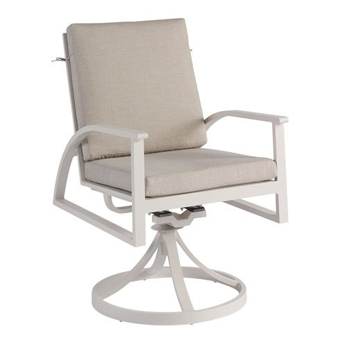 Cityscapes Outdoor Claidon Cushion Swivel Dinig Rocker Set of Two
