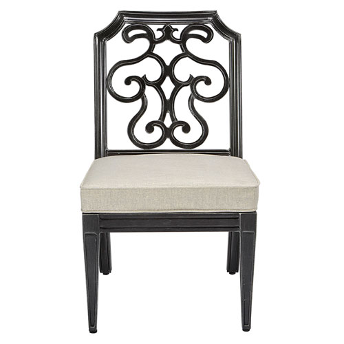 A.R.T. Furniture Arch Salvage Outdoor Gabrielle Armless Dining Chair Set of Two