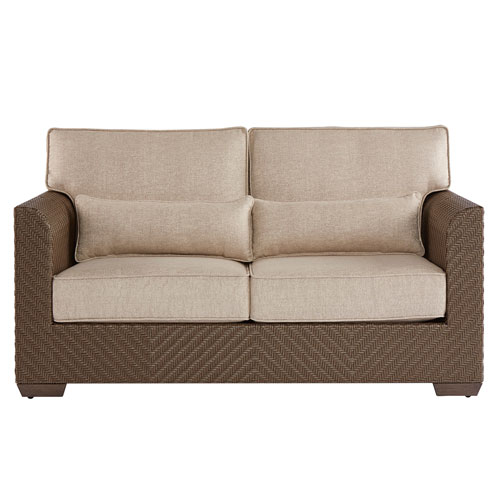 Arch Salvage Outdoor Florence Wicker Loveseat