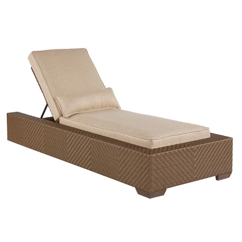 Arch Salvage Outdoor Florence Wicker Chaise Lounge