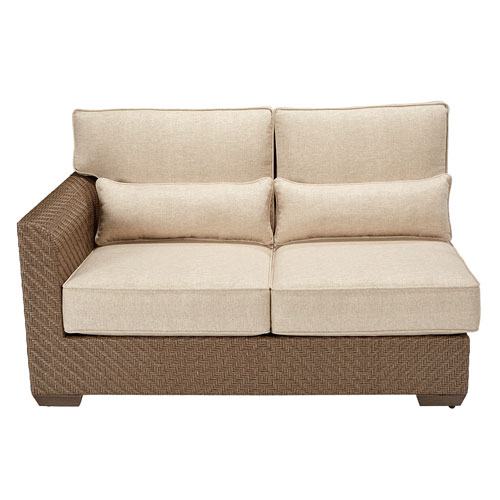 Arch Salvage Outdoor Florence Wicker Left Arm Facing Loveseat