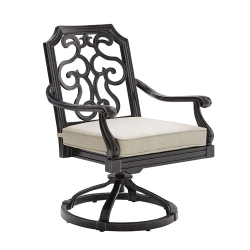 A.R.T. Furniture Arch Salvage Outdoor Cannes Swivel Rocking Club Chair