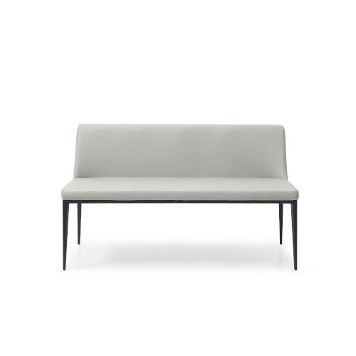 Carrie Gray and Black Bench