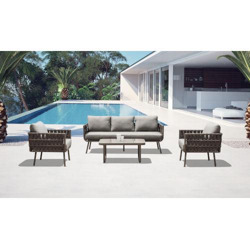 Oasis Taupe Outdoor Furniture Set, 4-Piece