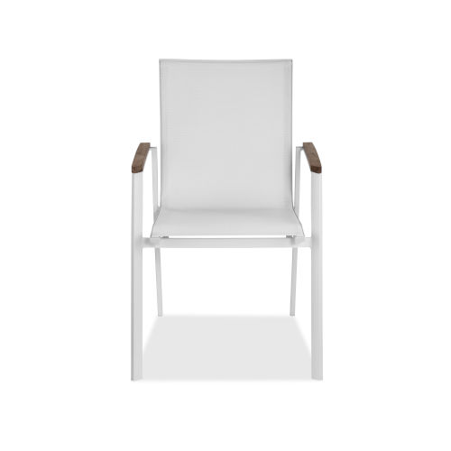 Cannes White Outdoor Armchair
