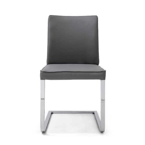 Ivy Gray and Chrome Dining Chair