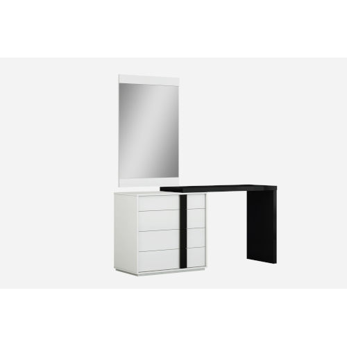 Kimberly High Gloss Black Dresser with Extension