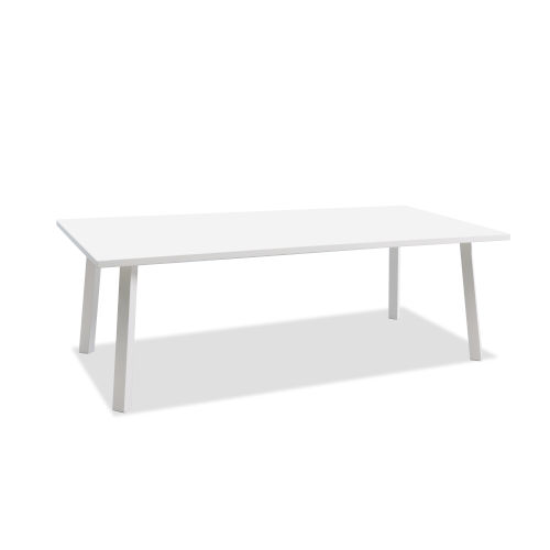 Rio Matte White Outdoor Dining Table