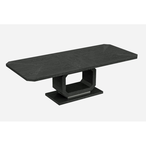 Los Angeles High Gloss Gray Extendable Dining Table