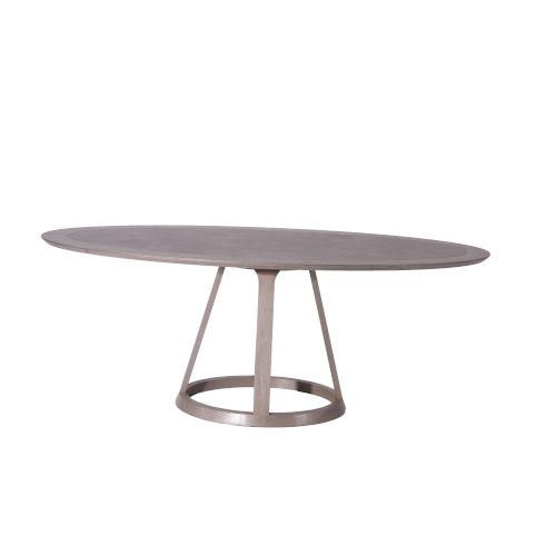 Florence Gray Oval Dining Table