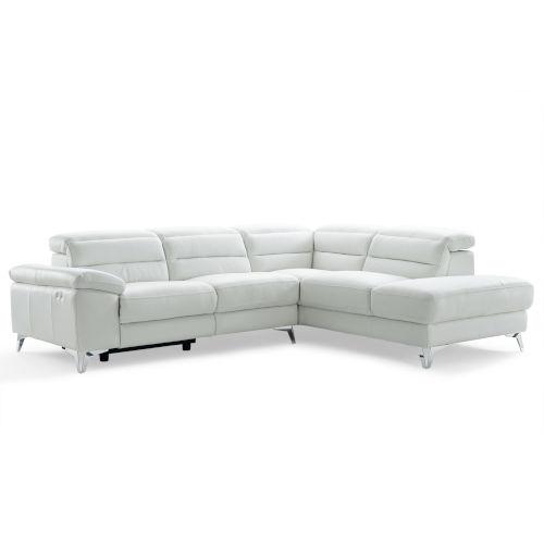 Johnson White Sectional Sofa