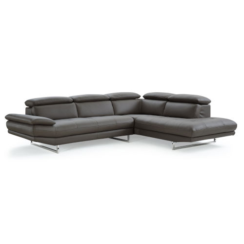 Pandora Dark Gray Sectional Sofa with Right Facing Chaise
