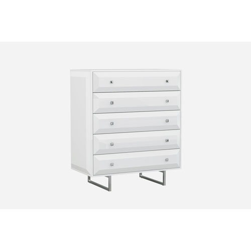 Abrazo Chest of Drawers, High Gloss White