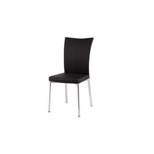 Alice Black and Chrome Dining Chair, Set of 2