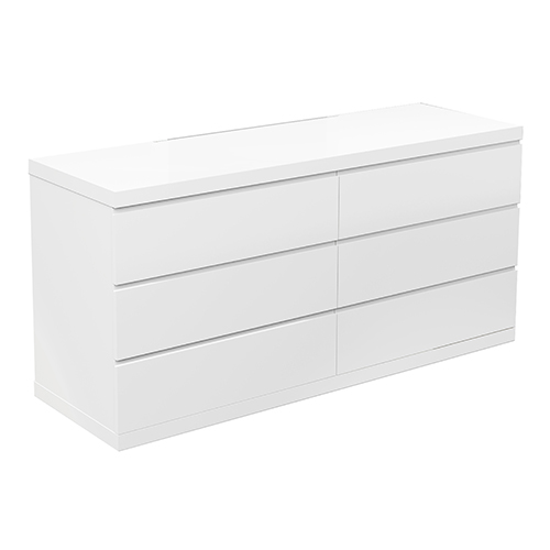 Anna High Gloss White Double Dresser