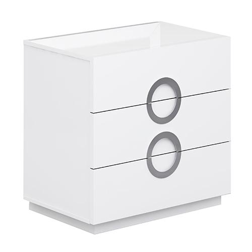 Eddy High Gloss White Single Dresser